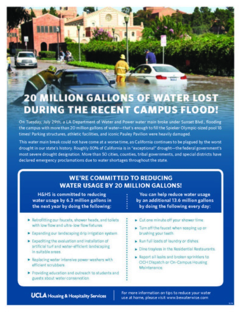 Water Conservation Challenge Flyer