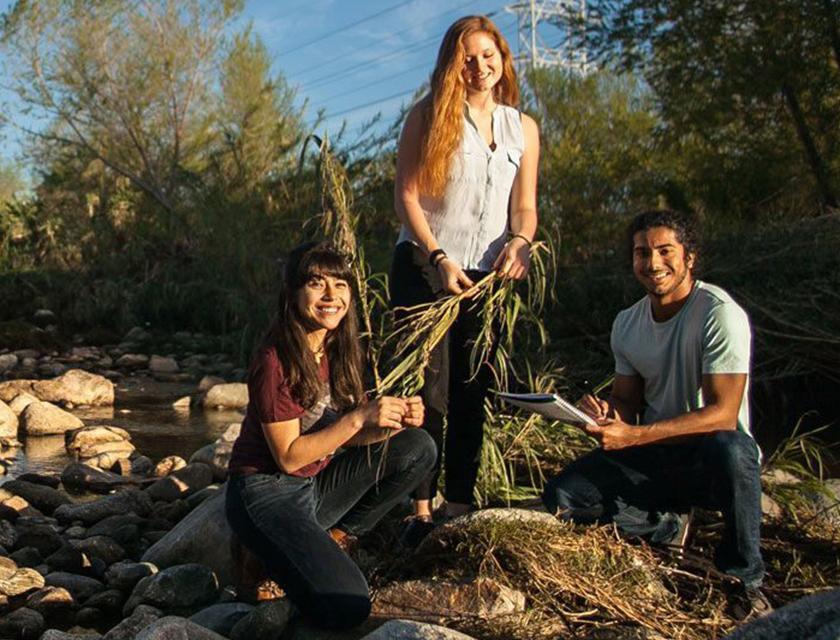 Students at LA River
